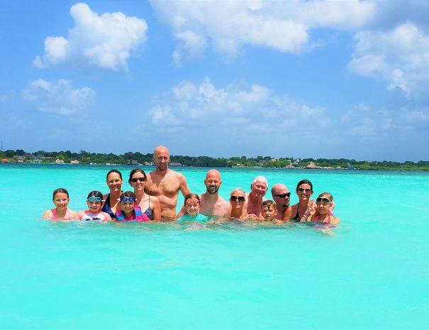 Bacalar family swim